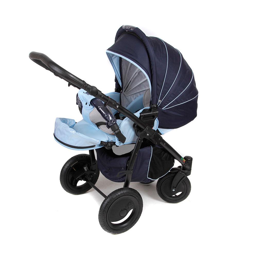 Коляска прогулочная Tutis Zippy Sport Plus Темно синяя с голубым<br>