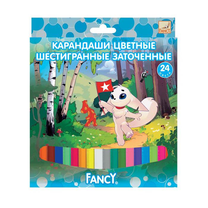 Карандаши ACTION! Цветные FANCY (24 цвета)<br>