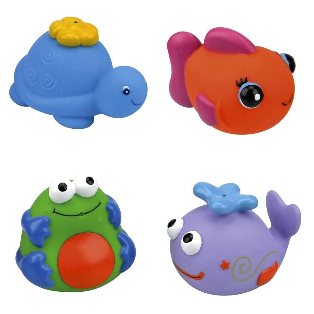 Игрушка для ванной K&amp;#039;s Kids Набор для ванны черепашка, кит, рыбка, лягушка с 12 мес.<br>