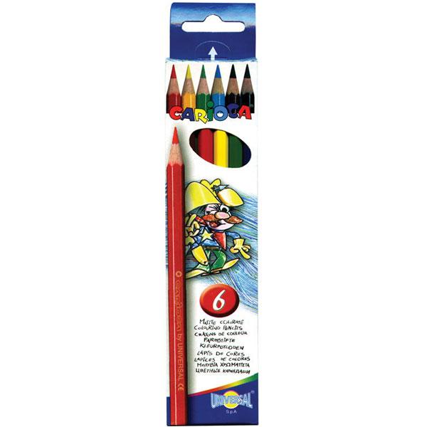 Набор карандашей цветных CARIOCA 6 цветов<br>