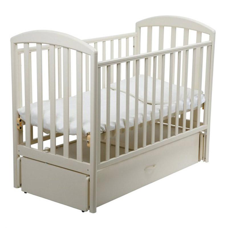 Кроватка Papaloni Джованни 125х65 маятник продольный Слоновая кость<br>