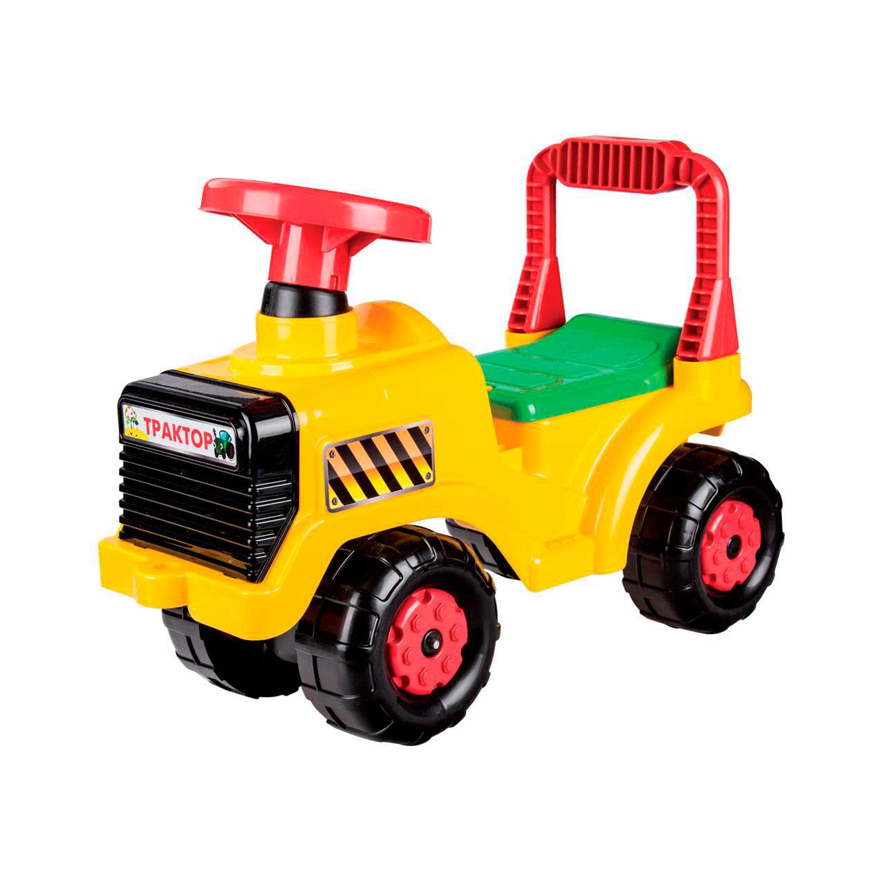 Каталка Альтернатива Трактор Желтая