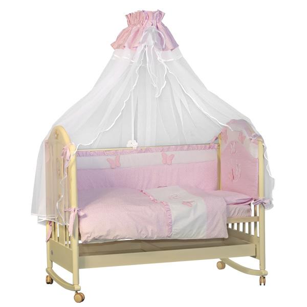 Комплект Папитто Бабочки 7 предметов Розовый<br>