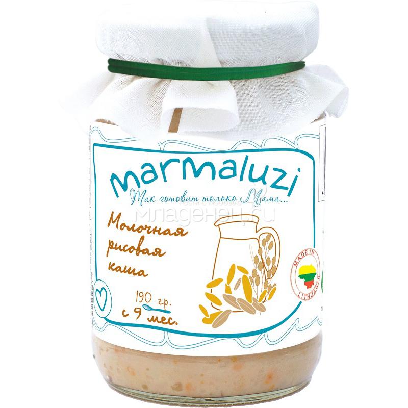 Пюре Marmaluzi злаки 190 гр. Каша рисовая молочная (с 9 мес)