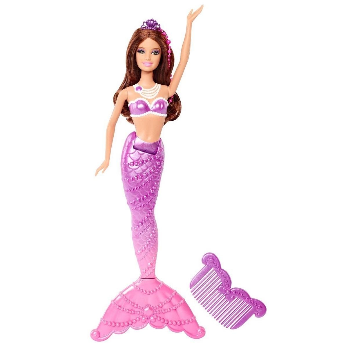 Кукла Barbie Русалки подружки с аксессуарами Серия Жемчужная принцесса С фиолетовым хвостом<br>