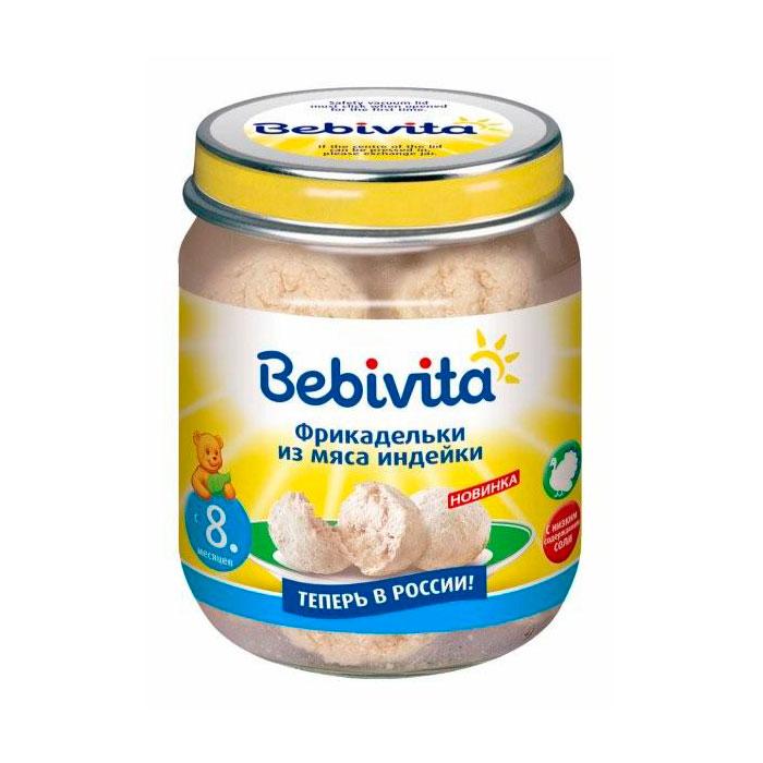 Пюре Bebivita мясное фрикадельки 125 гр Из мяса индейки (с 8 мес)<br>