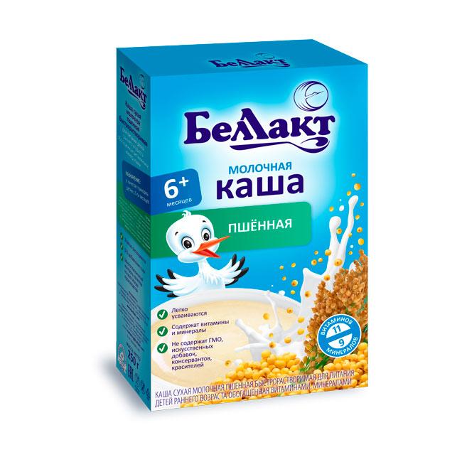 Каша БЕЛЛАКТ молочная быстрорастворимая 200 гр пшенная (с 6 мес)<br>