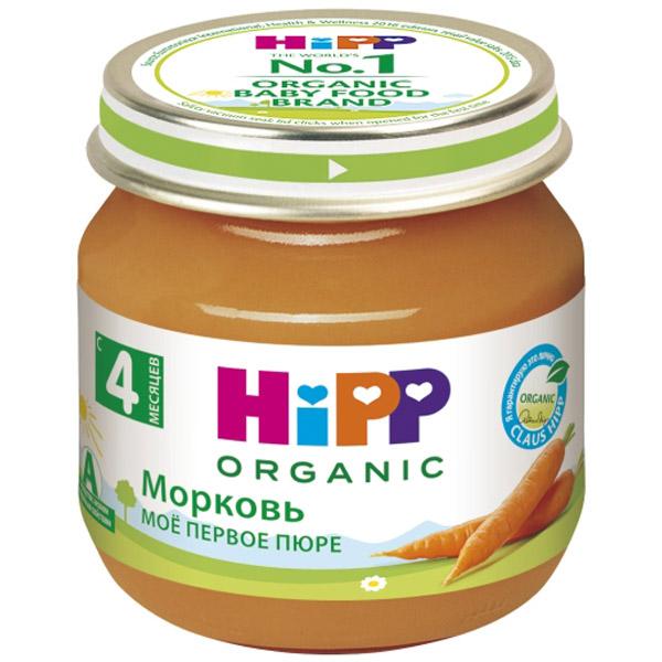 Пюре Hipp овощное 80 гр Морковь ранняя (с 4 мес)<br>