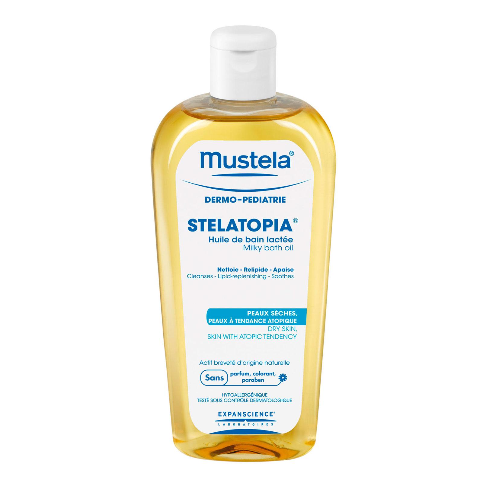 Масло для ванны Mustela Stelatopia 200 мл для новорожденных младенцев и детей<br>