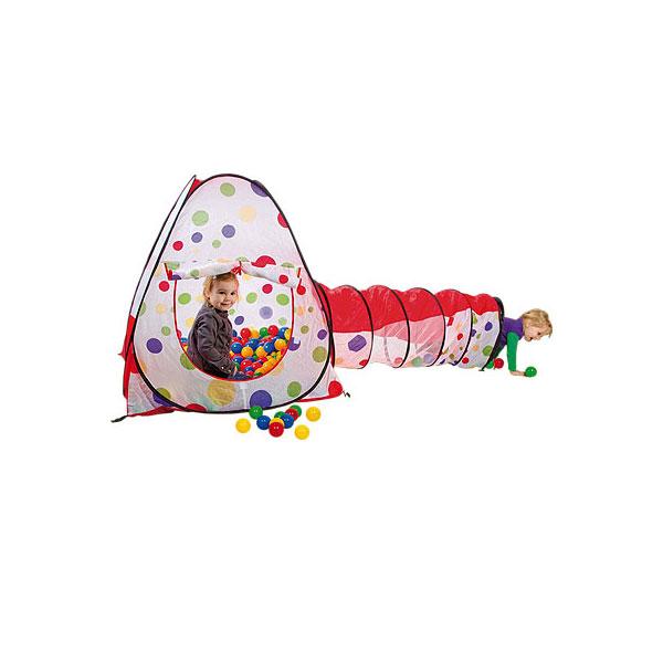 Игровой Дом Calida Конус с туннелем + 100 шаров<br>