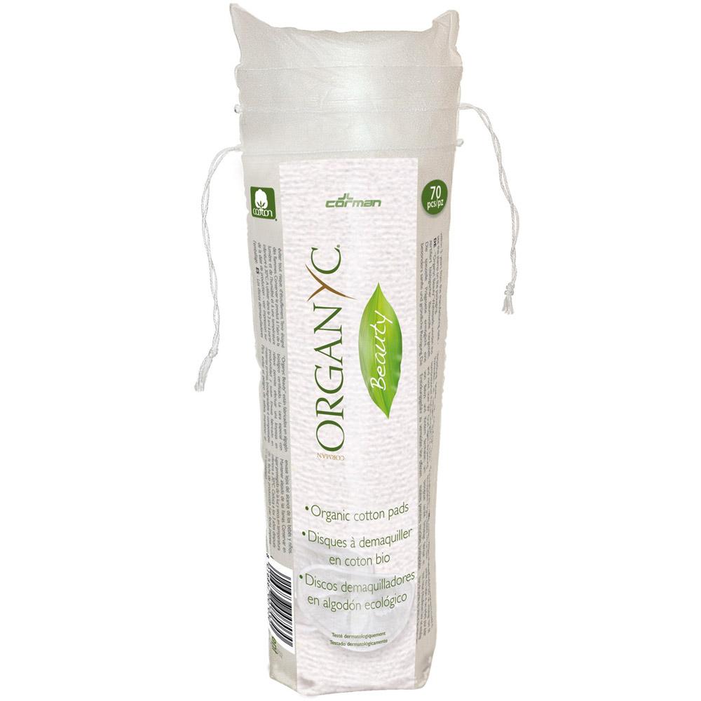 Ватные диски Organyc для снятия макияжа из органического хлопка 70шт<br>