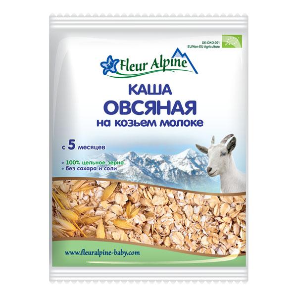 Каша Fleur Alpine Органик на козьем молоке 40 гр Овсяная (с 5 мес)<br>