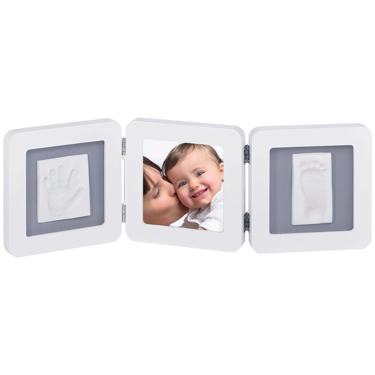Рамочка Baby Art Double Print Frame (тройная) Белая (подложка серая)<br>