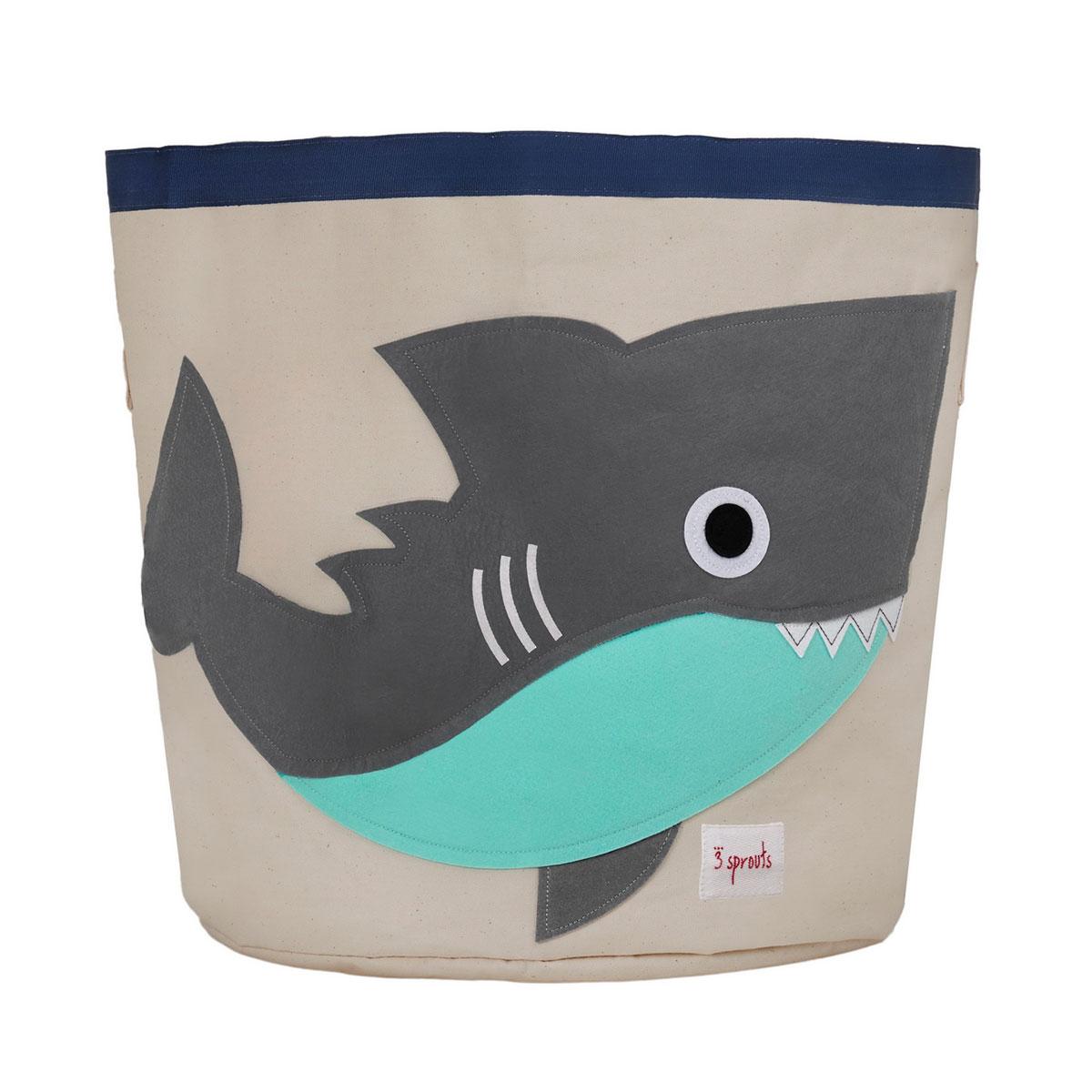 Корзина для хранения 3 Sprouts Серая акула (Grey Shark SPR213) Арт. 00022<br>