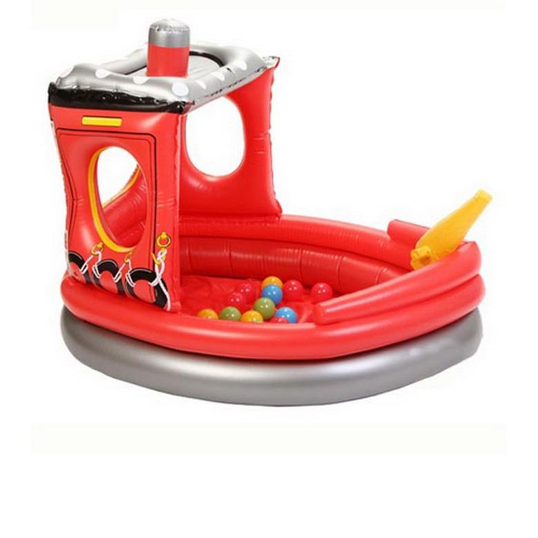 Сухой бассейн Upright надувной Пожарный катер + 50 шаров<br>