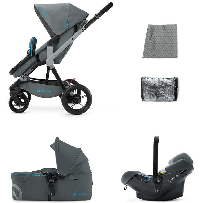 Коляска Concord 3 в 1 Wanderer Mobility Set 2015 Stone Grey<br>