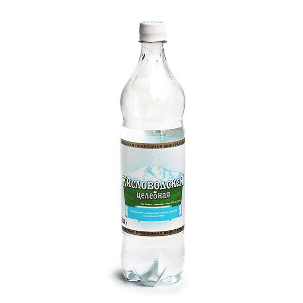 Вода минеральная Кисловодская Газированная 1 л целебная<br>