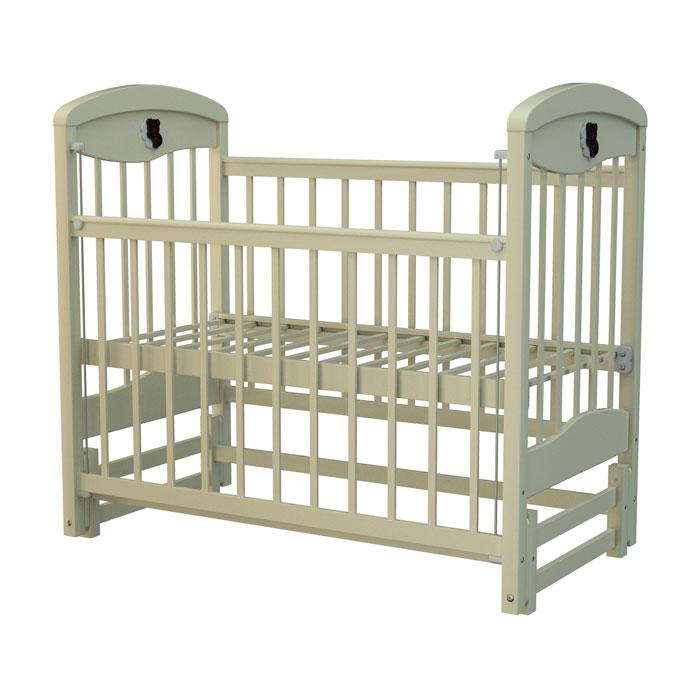 Кроватка Briciola 2 с продольным маятником Слоновая Кость<br>