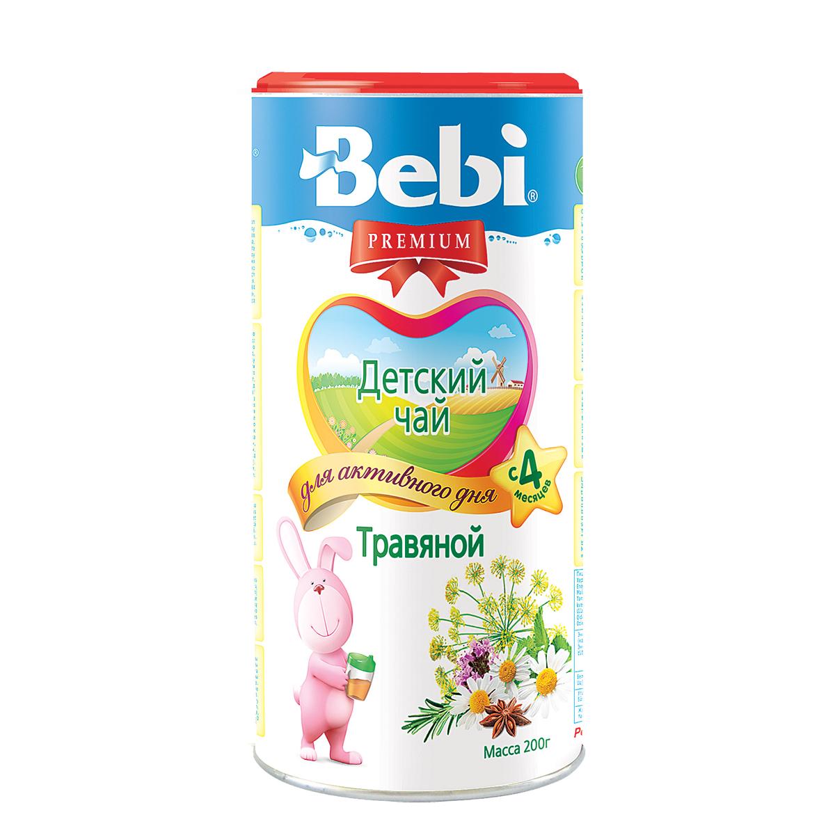 Чай детский Bebi Premium инстантный 200 гр Травяной (с 6 мес)<br>