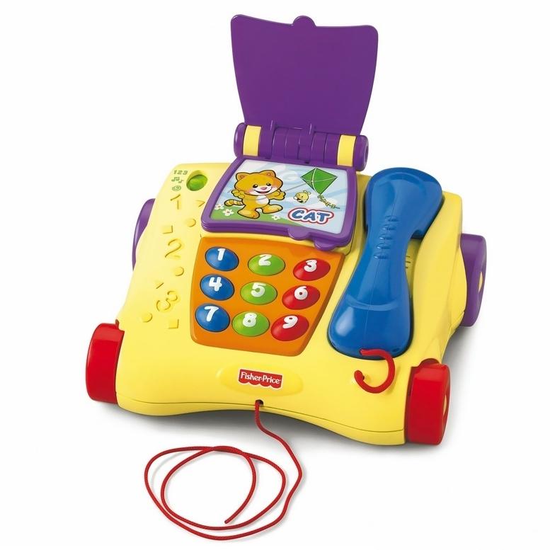Музыкальная игрушка Fisher Price Обучающий телефон (рус/англ) с 12 мес.<br>