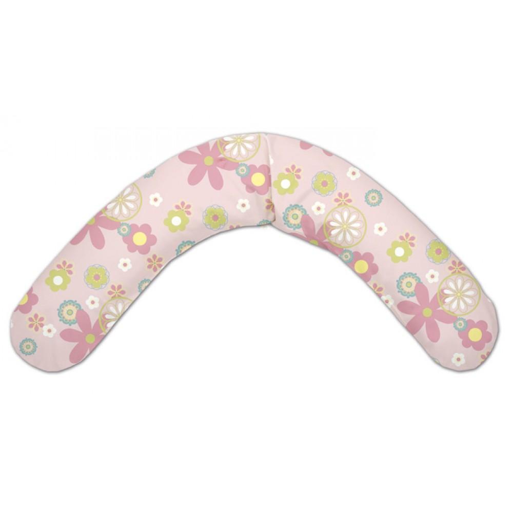 Подушка многофункциональная TheraLine 190 см Цветы (розовая)<br>