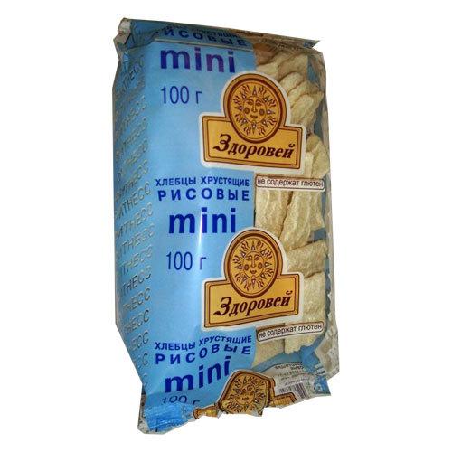 Хлебцы Здоровей Мини 100 гр Рисовые<br>