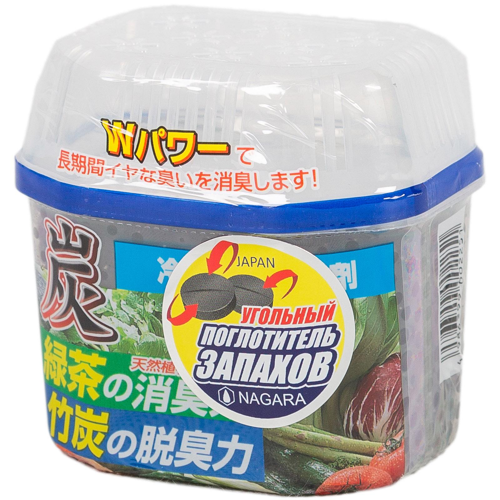 Древесный уголь Nagara для устранения запаха в холодильнике 180 мл.