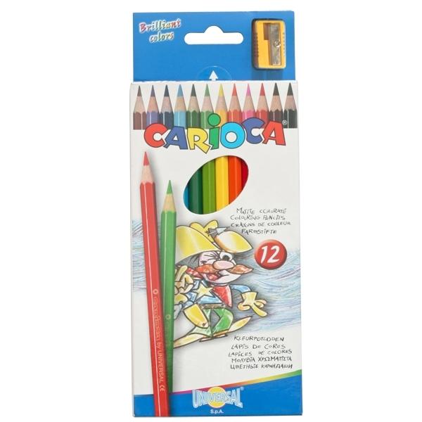 Набор карандашей цветных CARIOCA 12 цветов и точилка<br>