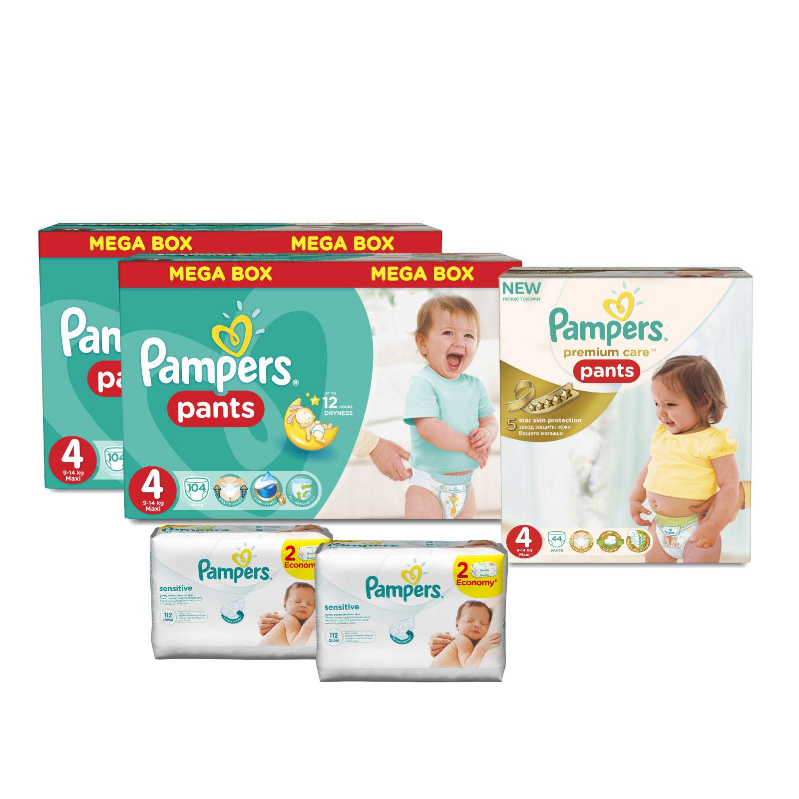 Набор Pampers № 8 Трусики Unisex &amp;amp; Premium (4 размер)<br>