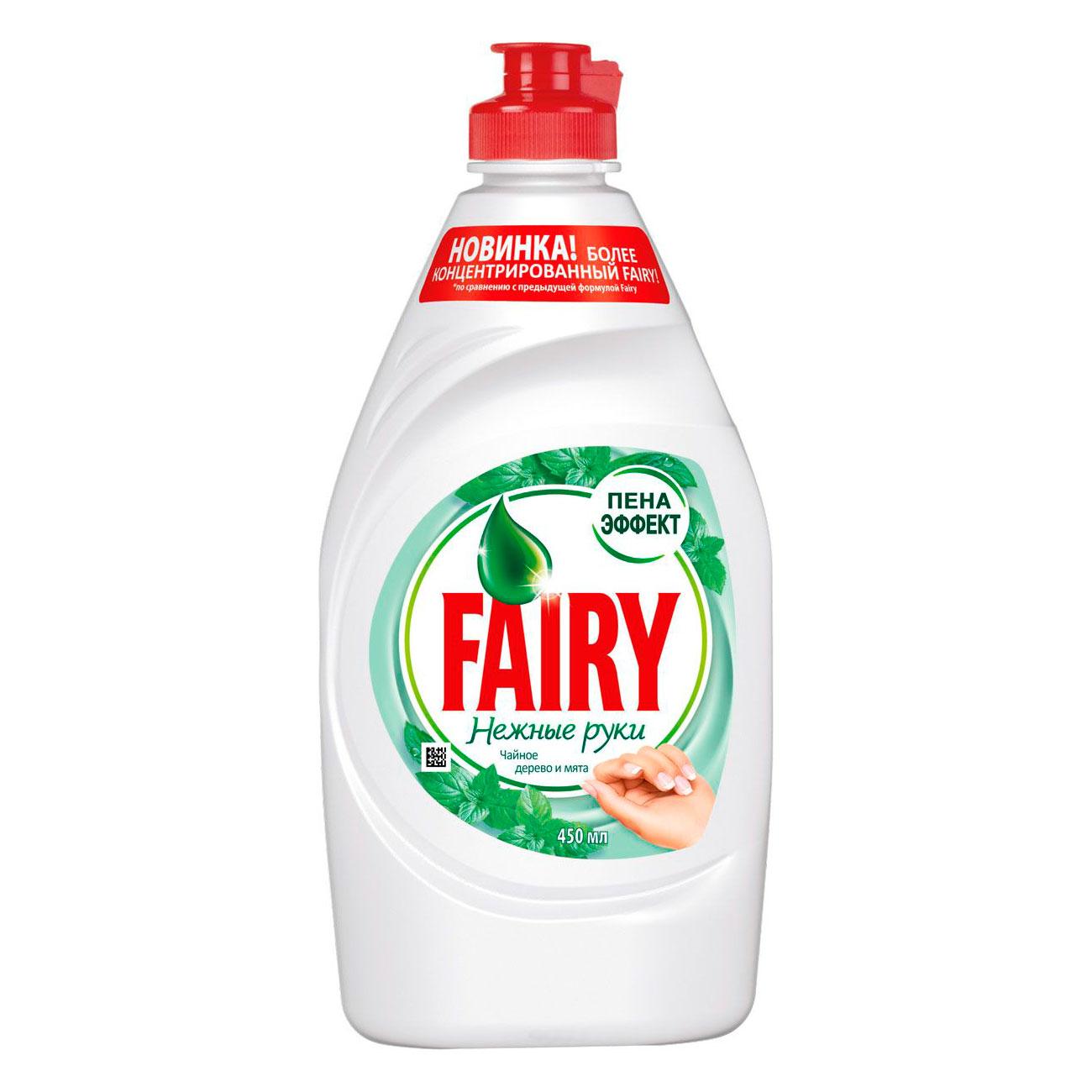 Средство для мытья посуды FAIRY Нежные руки Чайное дерево и мята 450 мл<br>