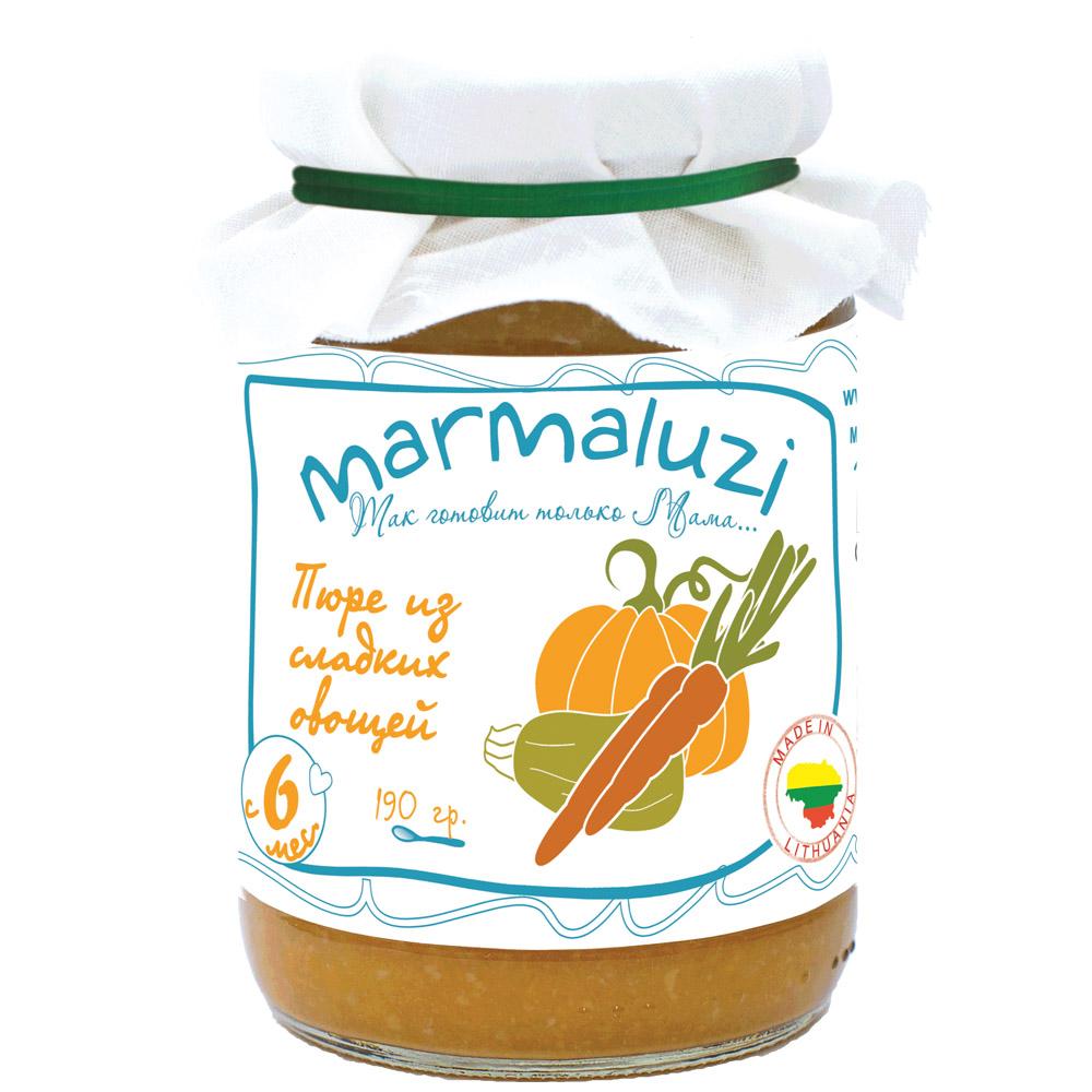 Пюре Marmaluzi овощное 190 гр Сладкие овощи (с 6 мес)<br>