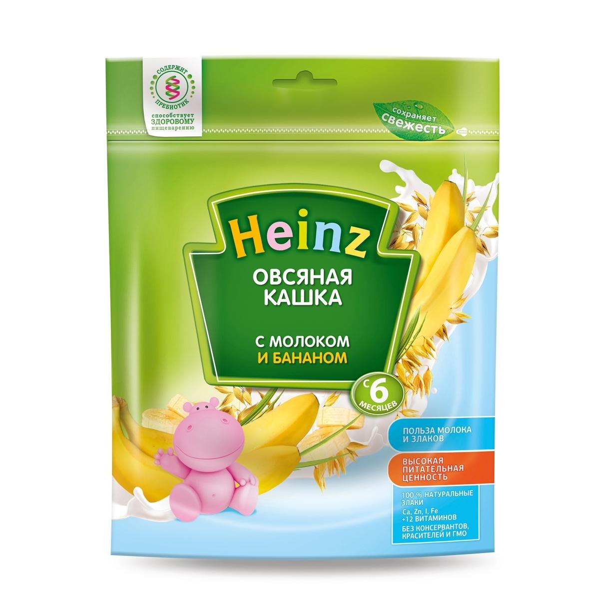 Каша Heinz молочная 250 гр Овсяная с бананом (с 6 мес)