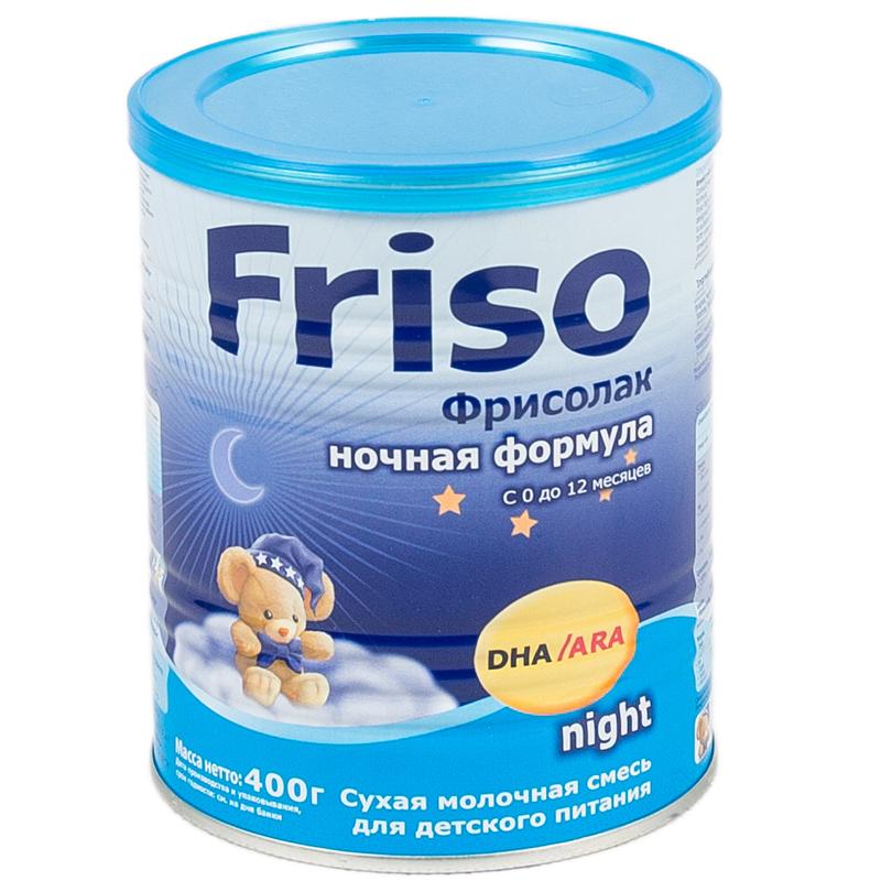 Заменитель Friso Фрисолак Ночная формула 400 гр с 0 до 12 мес.<br>