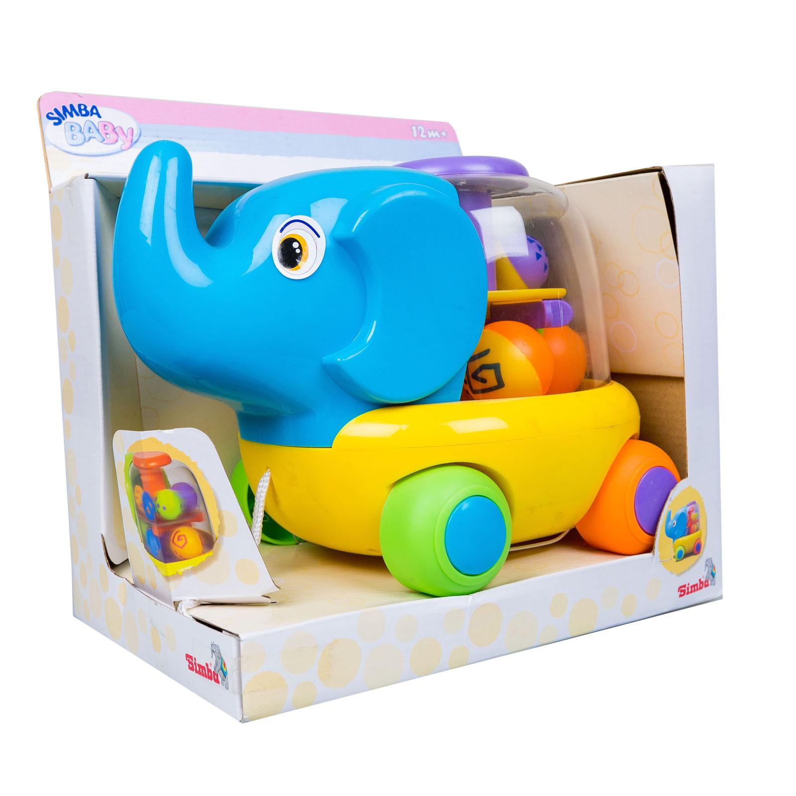 Развивающая игрушка Simba Каталка Слоник с 12 мес. (на веревочке)<br>