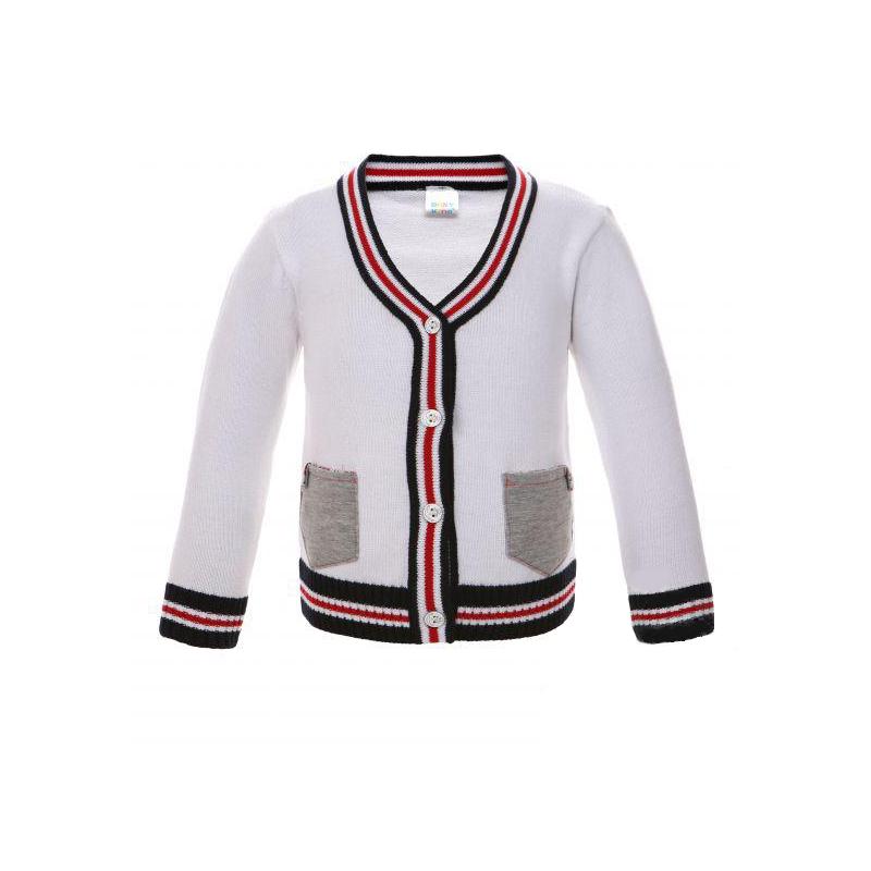 Жакет Bony Kids с карманами, цвет - Белый Размер 80