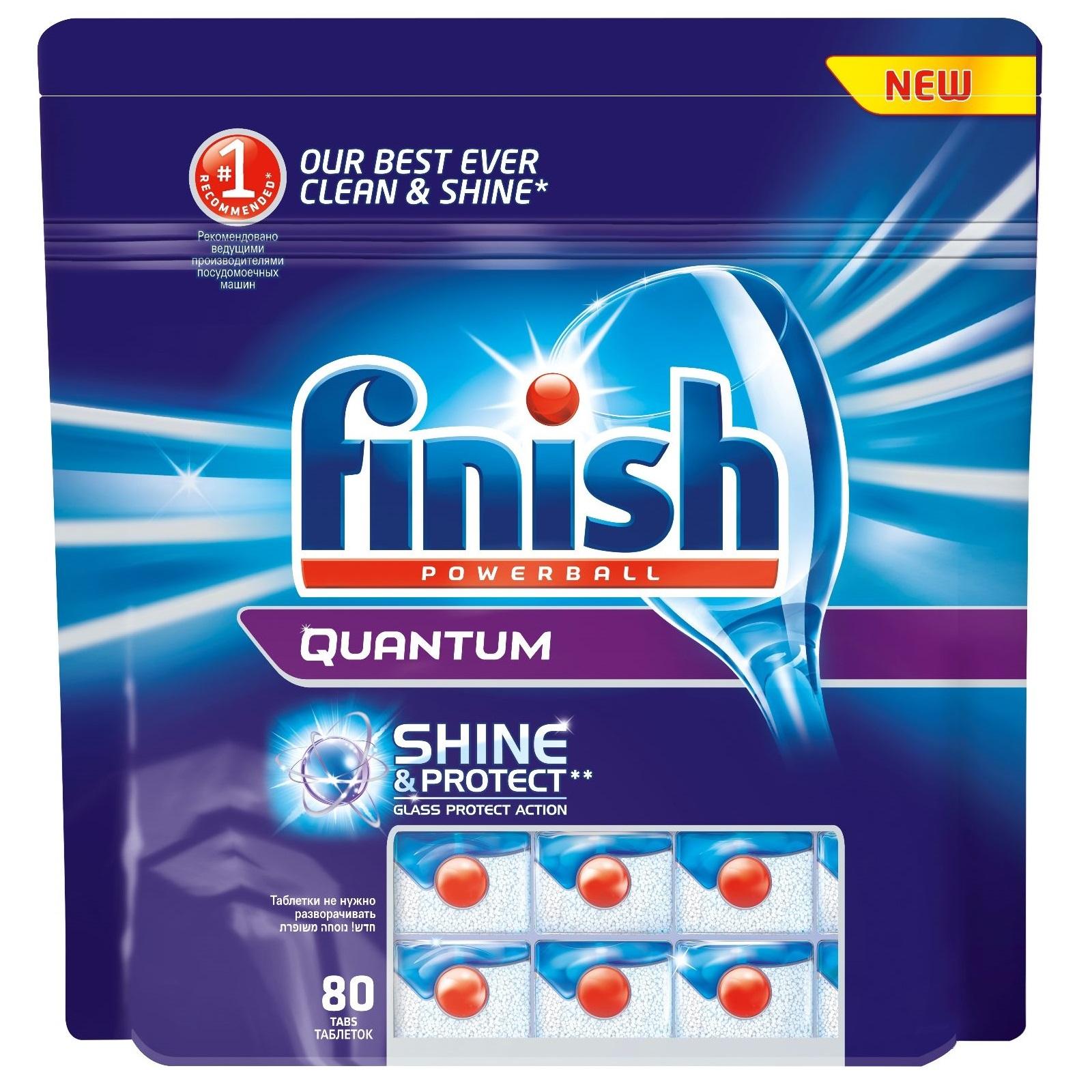 Средство Finish Quantum PowerBall Shine &amp;amp; Protect для посудомоечных машин Яблоко Лайм в таблетках 60 шт<br>