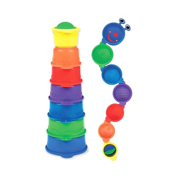 Игрушка для ванны Munchkin Пирамидка- Гусеница от 9 мес.<br>