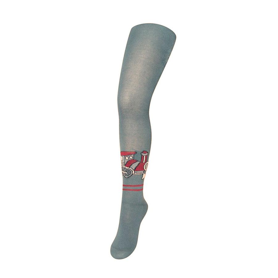 Колготки Para Socks с рисунком K1D11 р 80-86 серый меланж<br>