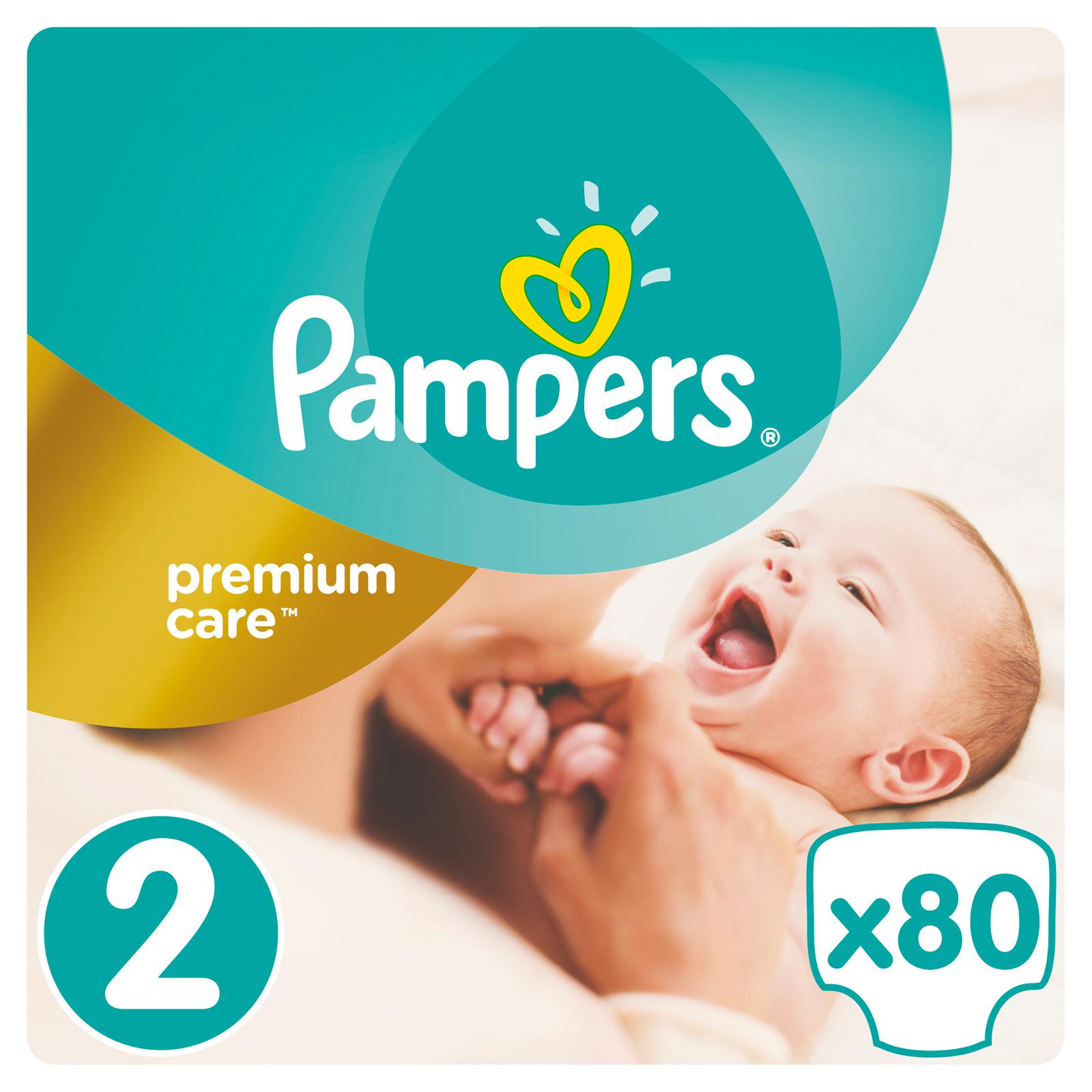 Подгузники Pampers Premium Care Mini 3-6 кг (80 шт) Размер 2<br>
