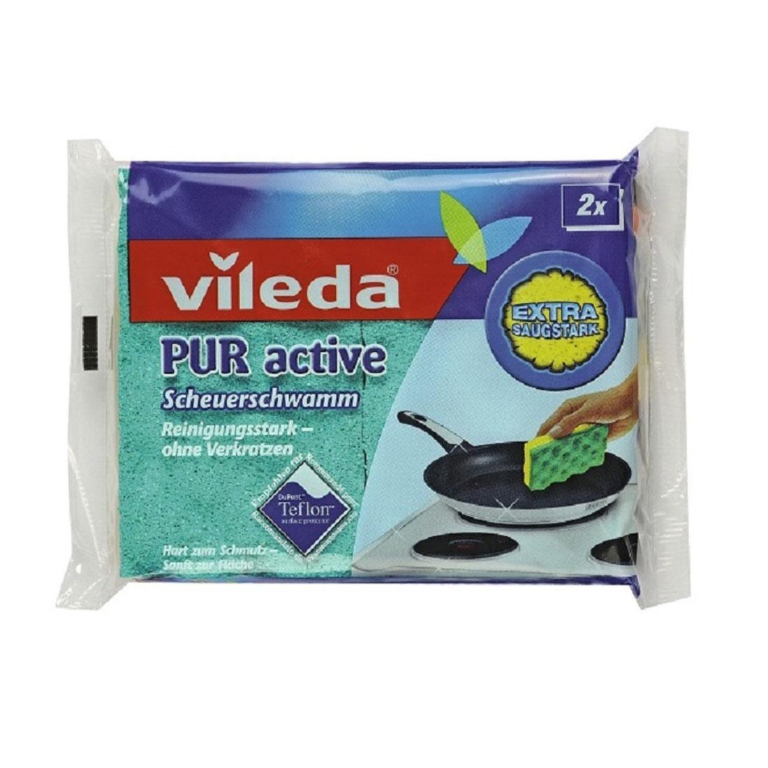 Губка Vileda PUR active для плит 2 шт<br>
