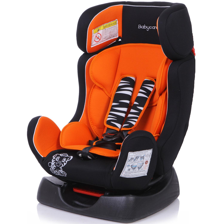 Детское автомобильное кресло Baby Care BC-719 Люкс Тигрёнок Оранжевое<br>