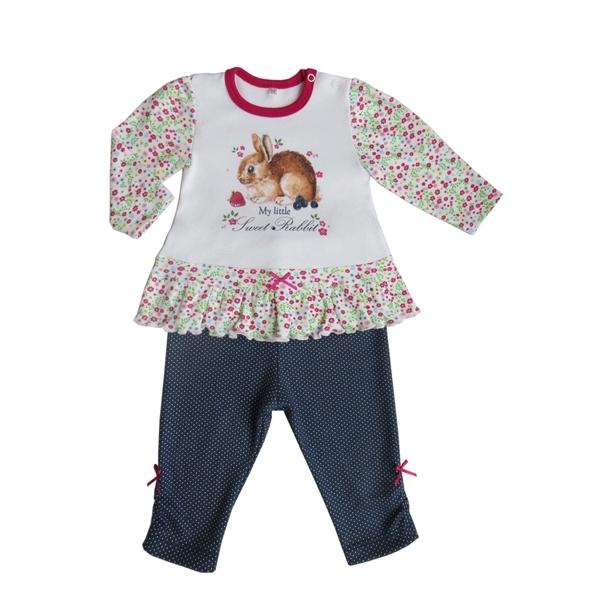 Комплект Soni kids Джинсовый садик футболка и легинсы рост 80 синий с белым<br>