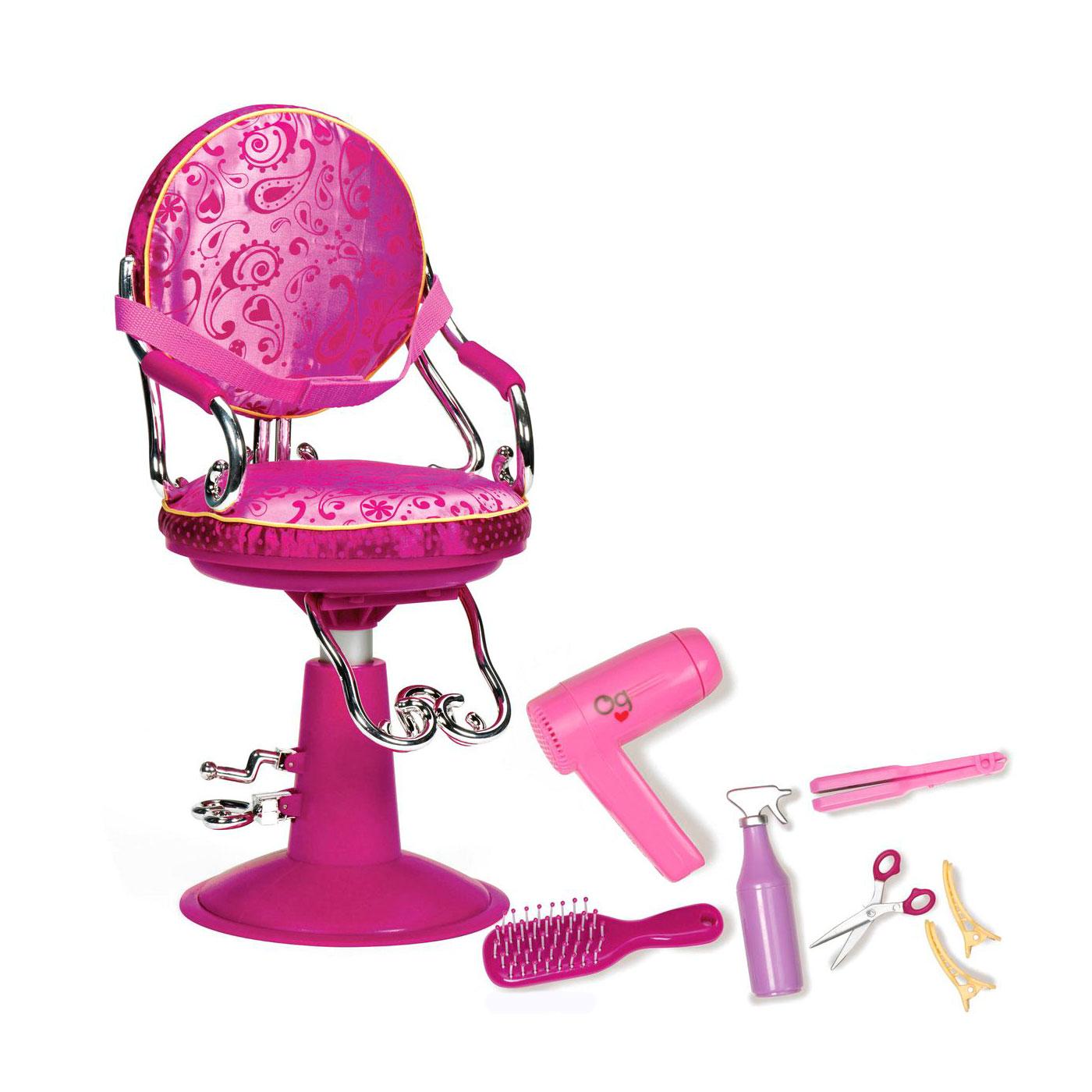 Игрушка Our Generation Парикмахерское кресло с аксессуарами для куклы<br>