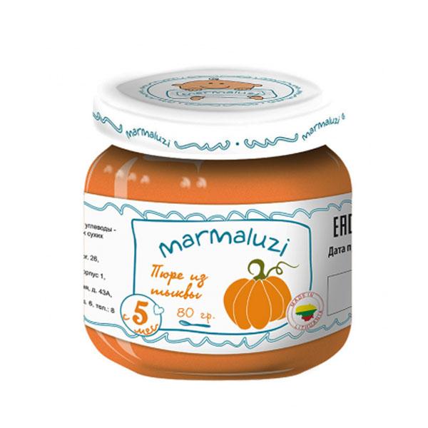 Пюре Marmaluzi овощное 80 гр Тыква (с 5 мес)<br>