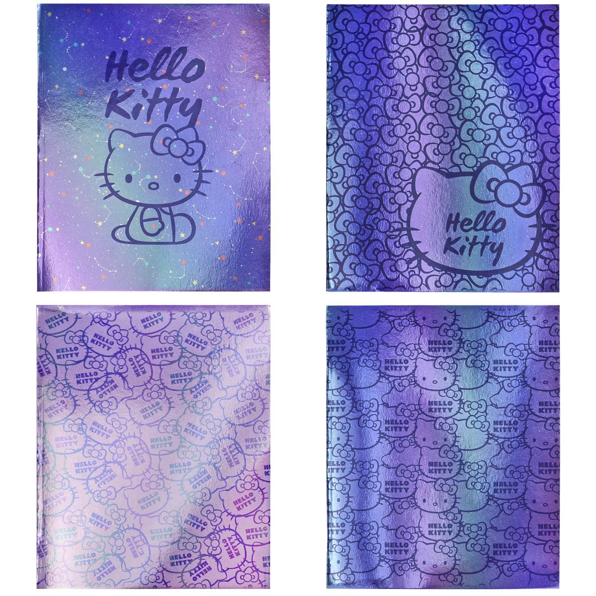 Тетрадь ACTION! 96 листов клетка HELLO KITTY 4 дизайна<br>