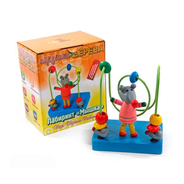 Лабиринт Деревянные игрушки Мышка малая