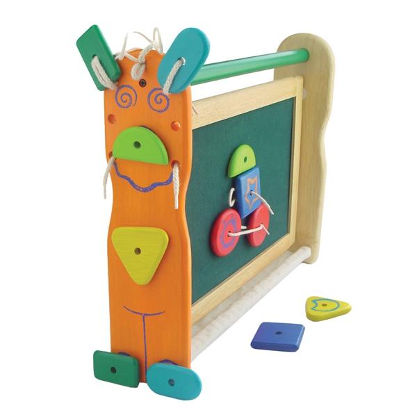 Набор для творчества I`m Toy Двусторонняя доска для рисования с набором фигурок на липучках<br>