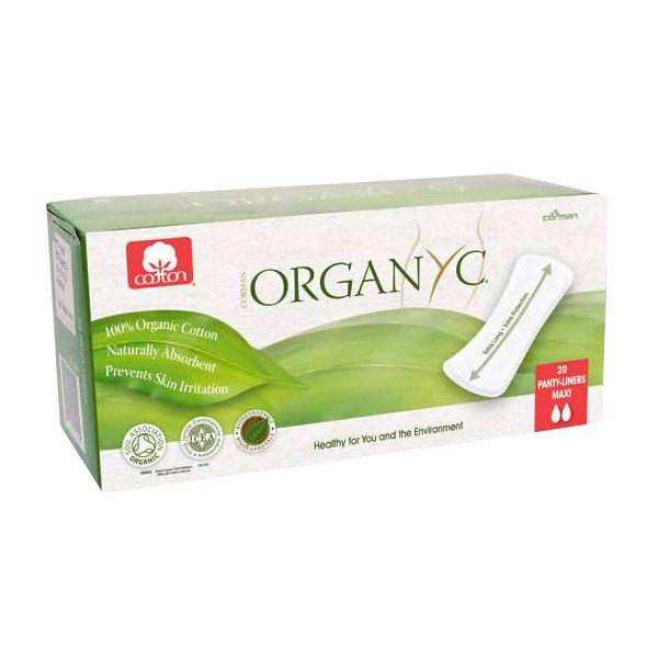 Прокладки гигиенические Organyc ежедневные 2 капли MAXI 20 шт<br>