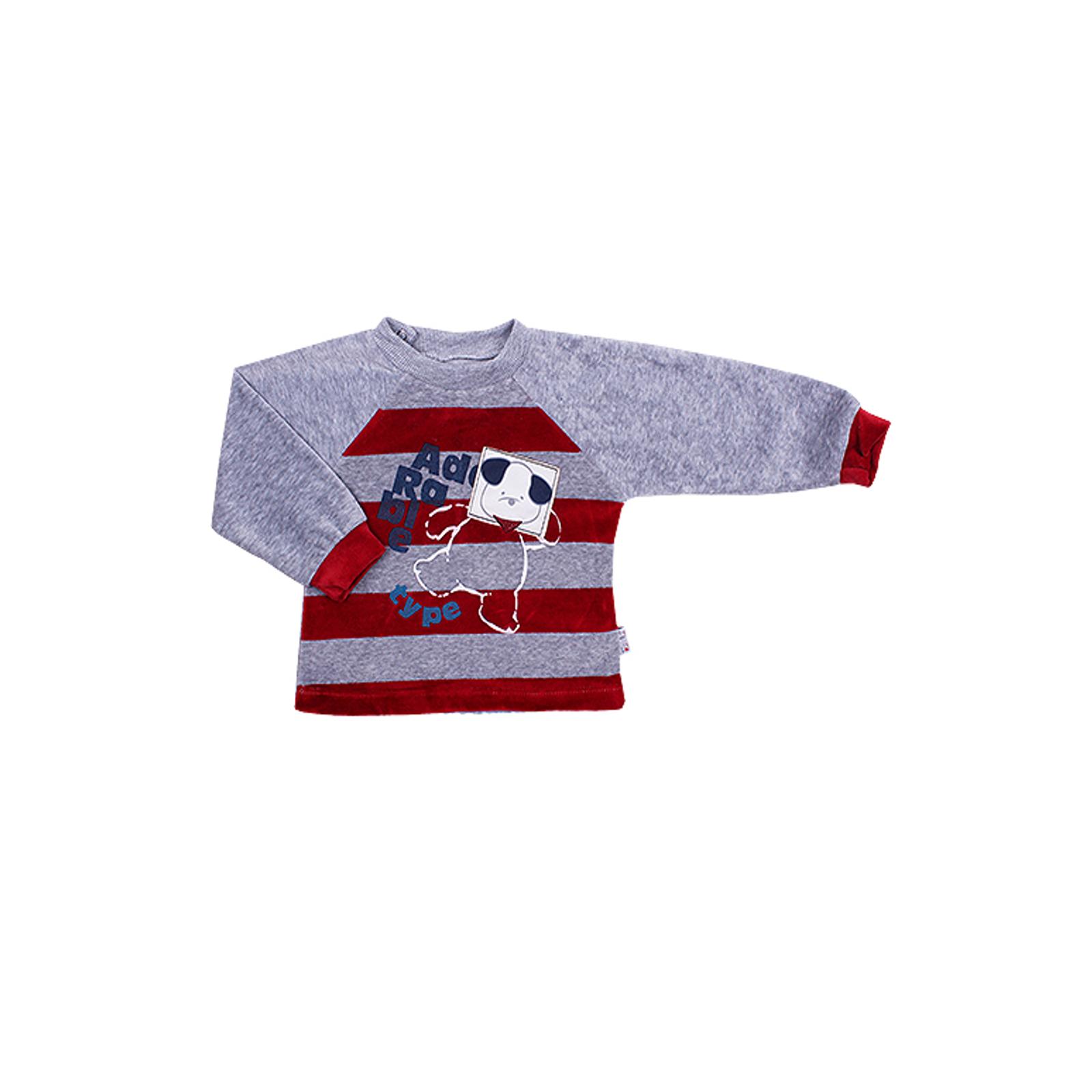 Комплект одежды Estella для мальчика, брюки, толстовка, цвет - Бордо Размер 80