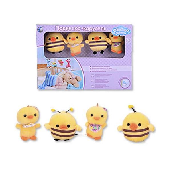 Мобиль Облако заботы музыкальный с мягкими игрушками Цыплята<br>